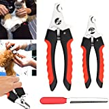 Zehui Stainless Steel Pet Nail Claw Clippers Trimmer Scissors Grooming Cutters for Dogs Cats S