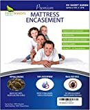 RV Short Queen Mattress Protector (60'Wx75'L) Bedbug Waterproof Zippered Encasement Hypoallergenic Premium Quality Cover Protects Against Dust Mites Allergens