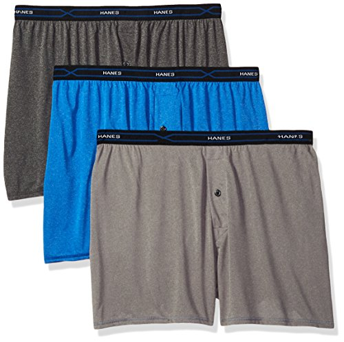 Hanes Men's 3-Pack X-Temp Lightweight Boxer, Assorted, X-Large