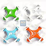 KiiToys Quadcopter Drone RC Helicopter Quad Copter Toy - Family Pack of 4 - Fly all 4 together - Micro Mini Nano Size - 3D Flip Air Light Show - 6 Axis Gyro - 4 Channels Radio Control - 2.4 ghz 100 ft range - 'Smallest QuadCopter in the world' with KiiToys Warranty + Tech Support (Pack of 4 included Color: Orange, Green, Blue, White)
