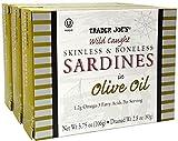 Skinless & Boneless Sardines in Olive Oil, (3 Pack), 3.75 oz Tin - Trader Joe's
