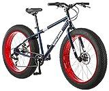 Mongoose Dolomite Fat Tire Mountain Bike, Featuring 17-Inch/Medium High-Tensile Steel Frame, 7-Speed Shimano Drivetrain