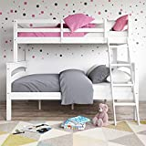 Product review for Dorel Living Brady Twin over Full Solid Wood Kid's Bunk Bed with Ladder, White