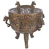Design Toscano Dragon Temple Faux Incense Sensor Urn, Bronze