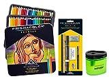 Prismacolor Premier Soft Core Colored Pencil, Set of 48 Assorted Colors (3598T) + Prismacolor Sanford 3750 Colored Pencil Accessory Set, 7-Piece + Bonus Sharpener