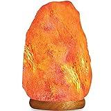 HemingWeigh Natural Himalayan Rock Salt Lamp 6-7 lbs with Wood Base, Electric Wire & Bulb