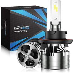 Marsauto-9008H13-LED-Headlight-Bulbs-with-Fan16000LM-6500K-60W-Xenon-WhiteM2-Series-HiLo-Beam-Conversion-Kit