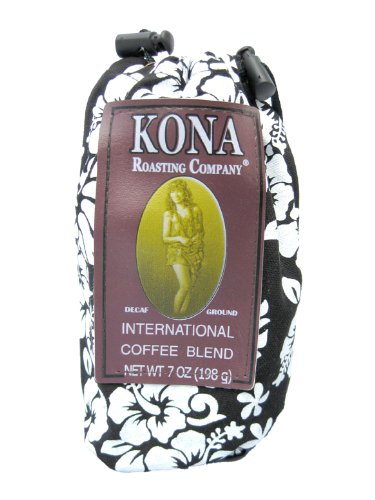 Kona Joe Coffee Decaf International Blend Aloha, Ground, 7-Ounce Bags (Pack of 2)