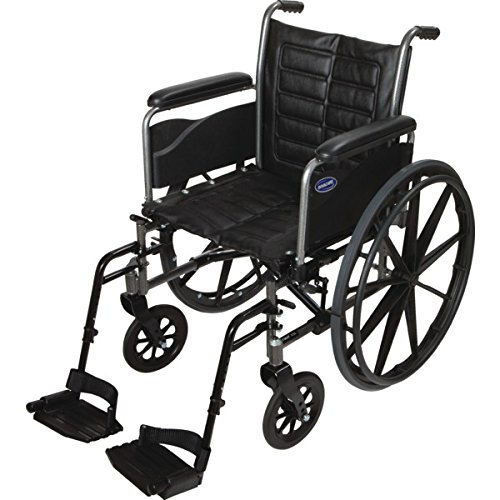 Invacare LightWeight Tracer EX2 Wheelchair 20' with SwingawayFootrest- Black (Folding, Assembled)