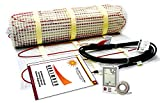 100 Sqft Electric Radiant Floor Heating System with Required GFCI Programmable Thermostat 120V