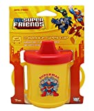 DC Superfriends Superman Yellow 2 Handle Sippy Cup