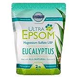 Ultra Epsom Premium Scented Epsom Salt, Eucalyptus, 2 Lb