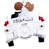 Personalized Just Married Wedding Car Christmas Ornament 2019