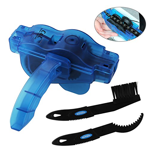 Bike Chain Cleaner, KKtick Bike Chain Cleaning Tool With Rotating Brushes Bicycle Maintenance Clean Accessories Set for Cycling Bike Road Bike Mountain Bikes