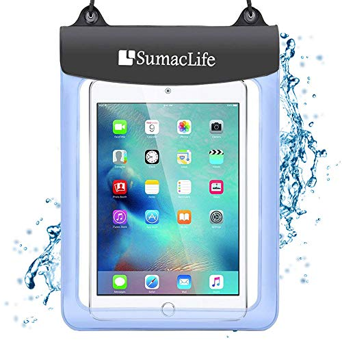 7-10.5 inch Universal Waterproof Case Tablet Dry Bag Pouch Protective Shock Snow Dust Proof Case Cover for Amazon Fire HD 10 / Fire HD 8 / Fire 7 / Fire 7 Kids Edition Fire Tablet with Alexa