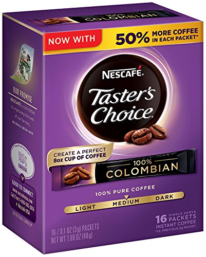 Nescafe Taster's Choice Instant Coffee, Colombian, 1.69  Ounce, Pack of 8