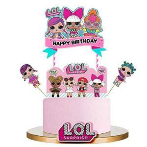 LOL Happy Birthday Cake Topper Cupcake Picks Cartoon Cake Decoration Kids Girls Birthday Party Supplies 5pcs 51M6pgzc98L