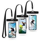 ProCase Universal Waterproof Pouch Cellphone Dry Bag Underwater Case for iPhone Xs Max XR X 8 7 6S Plus, Galaxy S10 Plus S9 S8 +/Note 9 8, Pixel 3 2 XL up to 6.5' - 3 Pack, Clear