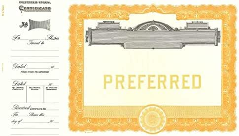 Amazon.com : Goes 503 Preferred Stock Certificate - Pack ...