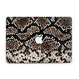 Luxury Art Design Snake Skin Python Laptop Case For Macbook Air 13 11 Apple Pro 13 15 2016 2017 Hard Cover Macbook 12 inch Mac Pro Retina 15 13 Clear Protective Handmade Custom Design RD2023