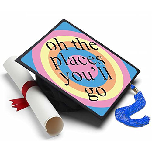 Oh The Places Graduation Cap Tassel Topper - Decorated Grad Caps - Decorating Kits