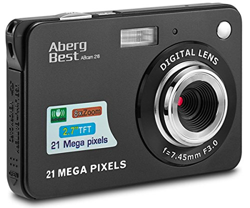 Aberg Best 21 Mega Pixels 2.7″ LCD Rechargeable HD Digital Camera Video camera Digital Students cameras,Indoor Outdoor for Adult /Seniors / Kids