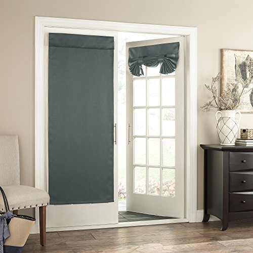 "Eclipse Tricia Window Door Panel, 26 by 68"", River Blue"