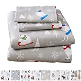 Home Fashion Designs Stratton Collection Extra Soft Printed 100% Turkish Cotton Flannel Sheet Set. Warm, Cozy, Lightweight, Luxury Winter Bed Sheets Brand. (Queen, Polar Bears)