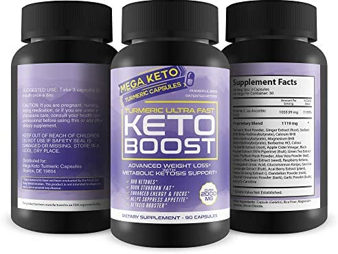 Turmeric Ultra Fast Keto Boost - 2180 MG Keto Max Power Formula - Reduce Appetite - Balance Metabolism - Release Fat Stores - Keto Boost Keto Pills - Keto Bhb Turmeric & Ginger Capsules 6