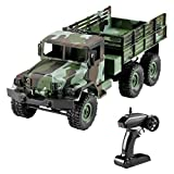 Binory MN-77 2.4G 1:16 4WD Off-Road Military Truck RC Car with LED Lights RTR,Remote Control Truck Car Toys Beat Racing Car Collction for Kids Birthday Children Days Gift