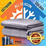 "Snuggle Pro Premium Adult Weighted Blanket & All Season Reversible Cover - 15 lbs Heavy Blanket for Sleeping, 48""x72"" Twin Size - Warm Minky 