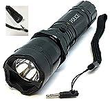 STUNSRUS Tactical Police 510 MV Stun Gun LED Triple Mode Flashlight with Disable Pin Rech