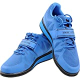 Nordic Lifting Powerlifting Shoes for Heavy Training - Best Men's Squat & Weightlifting Shoe - MEGIN 1 Year Warranty (11 US) Blue