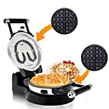 Secura Upgrade Automatic 360 Rotating Belgian Waffle Maker w/Removable Plates 2 Year Warranty