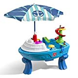 Step2 Fiesta Cruise Sand & Water Table with Umbrella   Kids Outdoor Play Table