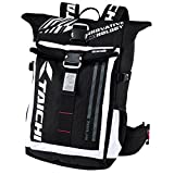 TAICHI Rsb272 Motorcycle Riding Outdoor Sports Hiking Fishing Travel waterproof backpack with LED safety light (White)