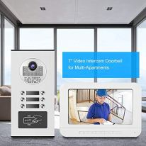 7-Inch-Video-Door-Phone-Doorbell-Home-Security-Camera-Monitor-Intercom-System-RFID-Door-Access-Control-System-with-Two-Way-AudioIR-Night-VisionMulti-RingApp-Control-for-Home-SecurityUS-Plug