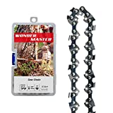WONDER MASTER 1Pack 10 Inch Chainsaw Chain with 39 Drive Links Count 3/8 Inch Pitch Semi Chisel .050 Inch Gauge fit for Poulan Remington Husqvarna Poulan Homelite Ryobi Worx Oregon Chainsaw
