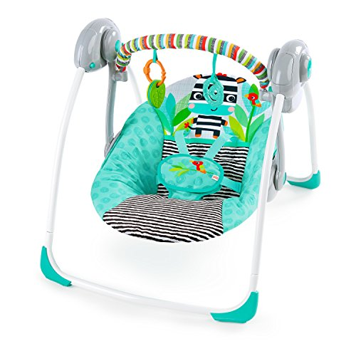 Bright Starts Zig Zag Zebra Portable Swing