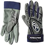 Rawlings 5150 Baseball Batting Gloves, Adult Large, Navy