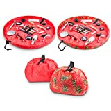 Lay-n-Go COSMO Plus (21') Set of Two Cosmetic Bags (Pineapple/Coral)