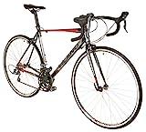 Vilano FORZA 4.0 Aluminum Integrated Shifters Road Bike, Black, 57cm/Large