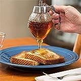 Acrylic Honey Dispenser, No Drip Syrup Server Jar Pot by Hunnibi