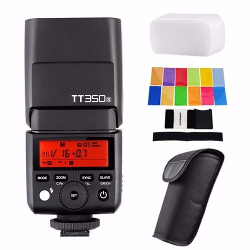 Godox TT350S 2.4G HSS 1/8000s TTL GN36 Wireless Speedlite Flash for Sony A7 A7R A7S A7 II A7R II A7S II A6300 A6000 with EACHSHOT Color Filter