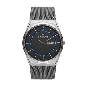 Skagen Men's 'SKW6078 Titanium Mesh' Quartz Stainless Steel Casual Watch, Color:Grey (Model