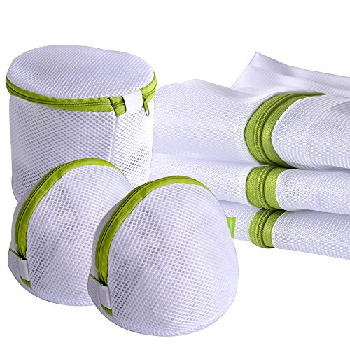 Laundry Wash Bag 6-Pack Yazer Durable Mesh Wash Laundry Bag Blouse, Hosiery, Stocking, Underwear, Bra and Lingerie Travel Laundry Bag with YKK Zipper