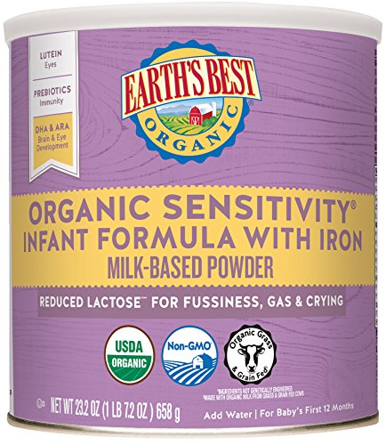 Earth's Best Baby Organic Sensitivity Infant Formula with Iron, 23.2 Ounce (Pack of 4)