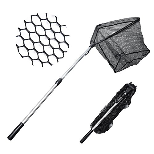 "MadBite Fishing Net Safe Catch & Release Fish Landing Net, Foldable, Telescoping – Durable, Strong Yet Light Weight (24""/60cm)"