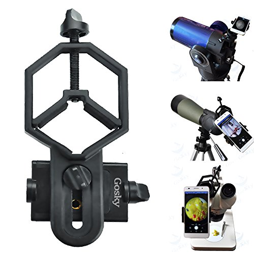 Gosky Universal Cell Phone Adapter Mount – Compatible with Binocular Monocular Spotting Scope Telescope Microscope-For Iphone Sony Samsung Etc
