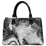 Artsadd Custom White And Black Alyssa Barrel Type Handbag
